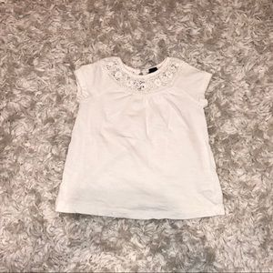 Baby Gap Crocheted Collar T-Shirt size 3 years